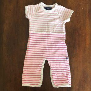 Toobydoo Pink Stripe Jumpsuit 3-6M